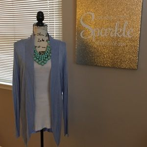 Blue heathered Merona cardigan sweater EUC